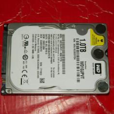 Hard disk NOU hdd laptop 1TB SATA 3 Western Digital Blue WD10JPVT, 500-999 GB, Rotatii: 5400