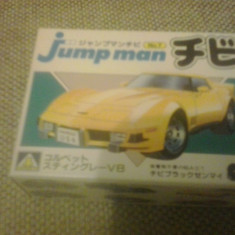 Chevrolet Corvette Stingray - AOSHIMA Jump man No 7 MODEL KIT Macheta auto 1:87