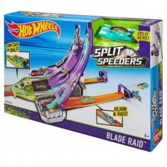 Pista Hot Wheels Split Speeders Blade Raid DHY27 Mattel - Masinuta