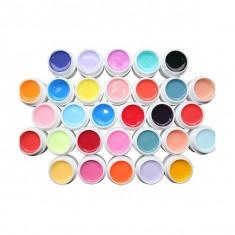Set 30 geluri colorate pentru unghii false
