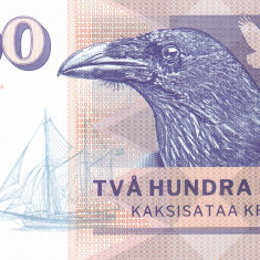 Bancnota Insulele Aland 200 Kronor 2016 - SPECIMEN ( hartie cu filigran ) - bancnota europa