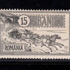 CAISORII 1903 - 15 BANI NECIRCULAT - Timbre Romania, Nestampilat