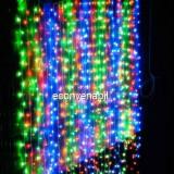 Perdea Luminoasa Craciun Exterior 2x1.5m 150LED Multicolor Fir Negru TO