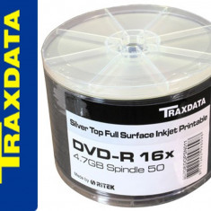 DVD-R TRAXDATA INKJET PRINTABILE 16X 4,7GB