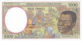 Bancnota Statele Africii Centrale ( Gabon ) 1.000 Franci 2000 - P402Lg UNC
