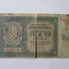 Croatia 100 Kuna 1941 - bancnota europa