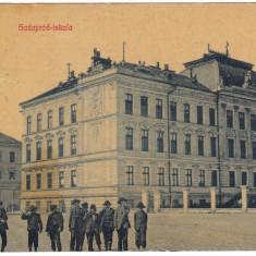 #1807- Romania, Temesvar, Timisoara, c.p. circ. 1910: Scoala de cadeti, animat - Carte Postala Banat 1904-1918, Circulata, Fotografie