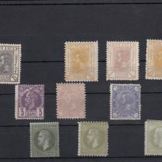ROMANIA 1872/1911, LOT 10 TIMBRE FARA GUMA CU SARNIERA - Timbre Romania, Nestampilat