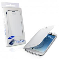 Carcasa Flip Culoare Alba pentru Samsung Galaxy S3 / I9300