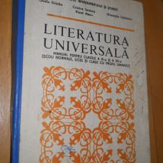 LITERATURA UNIVERSALA - XI- XII - OVIDIU DRIMBA - Manual scolar Altele, Clasa 11, Romana