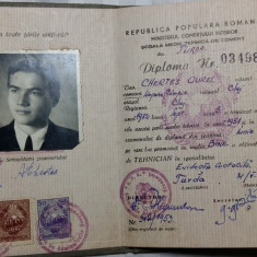 DIPLOMA DE TEHNICIAN - EVIDENTA CONTABILA - TURDA - REGIUNEA CLUJ - 31-5-1953 - Diploma/Certificat