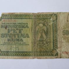 Croatia 500 Kuna 1941 - bancnota europa