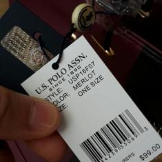 Geanta US POLO cu toarta 2 tonuri merlot +negru - Geanta Dama US Polo Assn, Culoare: Magenta, Marime: Medie