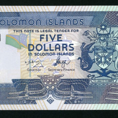 Solomon Islands 5 dollars ND 2006 UNC - lot 2 buc serie consecutiva