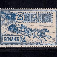 CAISORII 1903 - 25 BANI NECIRCULAT MLH - Timbre Romania, Nestampilat