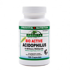BIO-ACTIVE ACIDOFILUS reface flora bacteriana 100 Capsule - Produs sporirea imunitatii