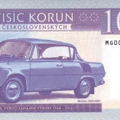 Bancnota Cehoslovacia 1.000 Korun 2016 - SPECIMEN ( Skoda - hartie cu filigran ) - bancnota europa