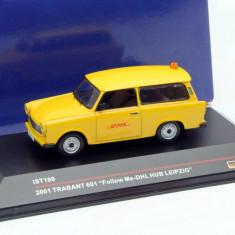 Macheta Trabant 601 Follow Me-DHL Hub Leipzig  2001 - IST scara 1:43