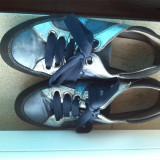 Adidasi / pantofi sport piele naturala marime 37 - Adidasi dama, Culoare: Albastru