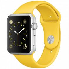 Smartwatch Apple Watch Sport 42mm Silver Aluminium Case Yellow Sport Band
