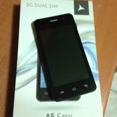 Allview a5 easy - Telefon Allview, Negru, 8GB, Neblocat, Dual SIM, Dual core
