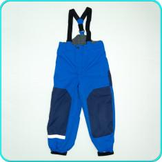 Pantaloni salopeta, ski, grosi, calitate H&M _ baieti | 7 -8 ani | 128, Marime: Alta, Culoare: Albastru