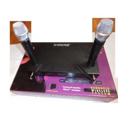 Set microfoane profesionale cu reciver Shure Beta 87 foto