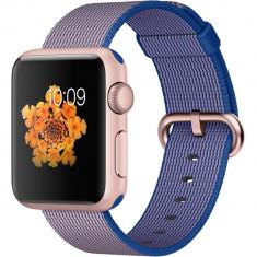 Smartwatch Apple Watch Sport 38mm Rose Gold Aluminium Case Royal Blue Woven Nylon