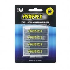 Maha Powerex MHRAA4 set 4 acumulatori AA Ni-Mh 2700mAh - Baterie Aparat foto, Tip AA (R6)