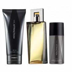 AVON ATTRACTION + GEL DUS + SPRAY ORIGINAL SIGILAT - Set parfum