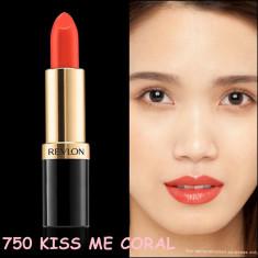 Revlon Ruj Super Lustrous - 750 KISS ME CORAL