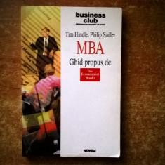 T. Hindle, P. Sadler – MBA