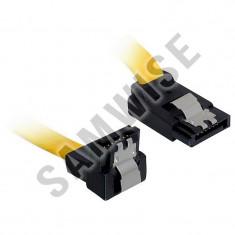 Cabluri SATA, lungime 50cm, HDD, SSD, Unitati Optice, 90 grade, culoare galbena - Cablu PC