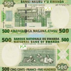RWANDA 500 francs 2008 UNC!!!
