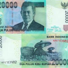 INDONEZIA 20.000 rupiah 2012 UNC!!! - bancnota asia