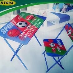 Masuta si scaun pliabil pentru elevi KT 004 - Masuta/scaun copii