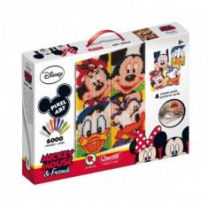 Joc Creativ Pixel Art Quercetti Tablou Mickey Mouse Si Prietenii Lui 6000 Piese - Jocuri arta si creatie