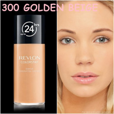 Revlon Colorstay Fond de Ten MIXT / GRAS - 300 GOLDEN BEIGE