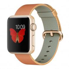 Smartwatch Apple Watch Sport 42mm Gold Aluminium Case Gold/Royal Blue Woven Nylon