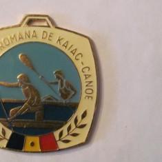 """MMM - Placheta Sport """"Federatia Romana de Kaiac - Canoe / Regata Snagov 1980"""""""