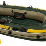 Barca gonflabila Seahawk II 2 persoane Intex 68347, cu vasle si pompa