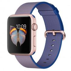 Smartwatch Apple Watch Sport 42mm Rose Gold Aluminium Case Royal Blue Woven Nylon