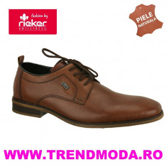 Pantofi barbati piele naturala RIEKER 10620-24 maro (Marime: 42) - Pantof barbat