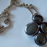 Lant argint cu hematit - 581 - Lantisor argint