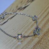 Bratara dama argint S925 cu cristale Swarovski hand-made,Austria-Livr. Gratuita