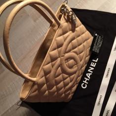 Geanta Chanel Shopping - Geanta Dama Chanel, Culoare: Argintiu, Marime: Medie