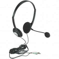 Casti Manhattan Over-Ear LightWeight MHT164429 Black - Casca PC