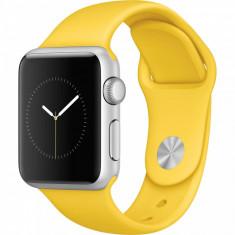 Smartwatch Apple Watch Sport 38mm Silver Aluminium Case Yellow Sport Band
