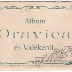 Romania, Oravicza, carte postala -album circulata 1907: 4 imagini - Carte Postala Banat 1904-1918, Fotografie, Oravita