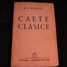 CAIETE CLASICE-N.I. HERESCU-247 PG-
